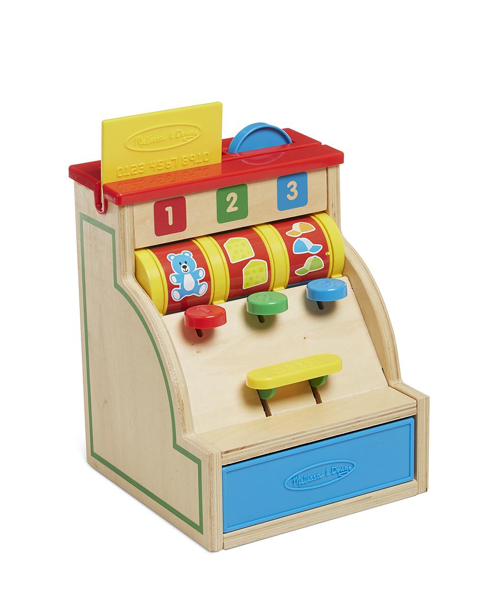 holz kasse mit funktion und geld kinderkasse aus holz zubeh r kaufmannsladen ebay. Black Bedroom Furniture Sets. Home Design Ideas