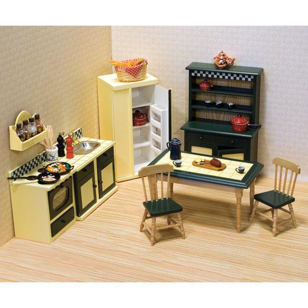 Küche Antik | Puppenhaus Kuche Antik Echtholz Timmi Spielwaren Onlineshop
