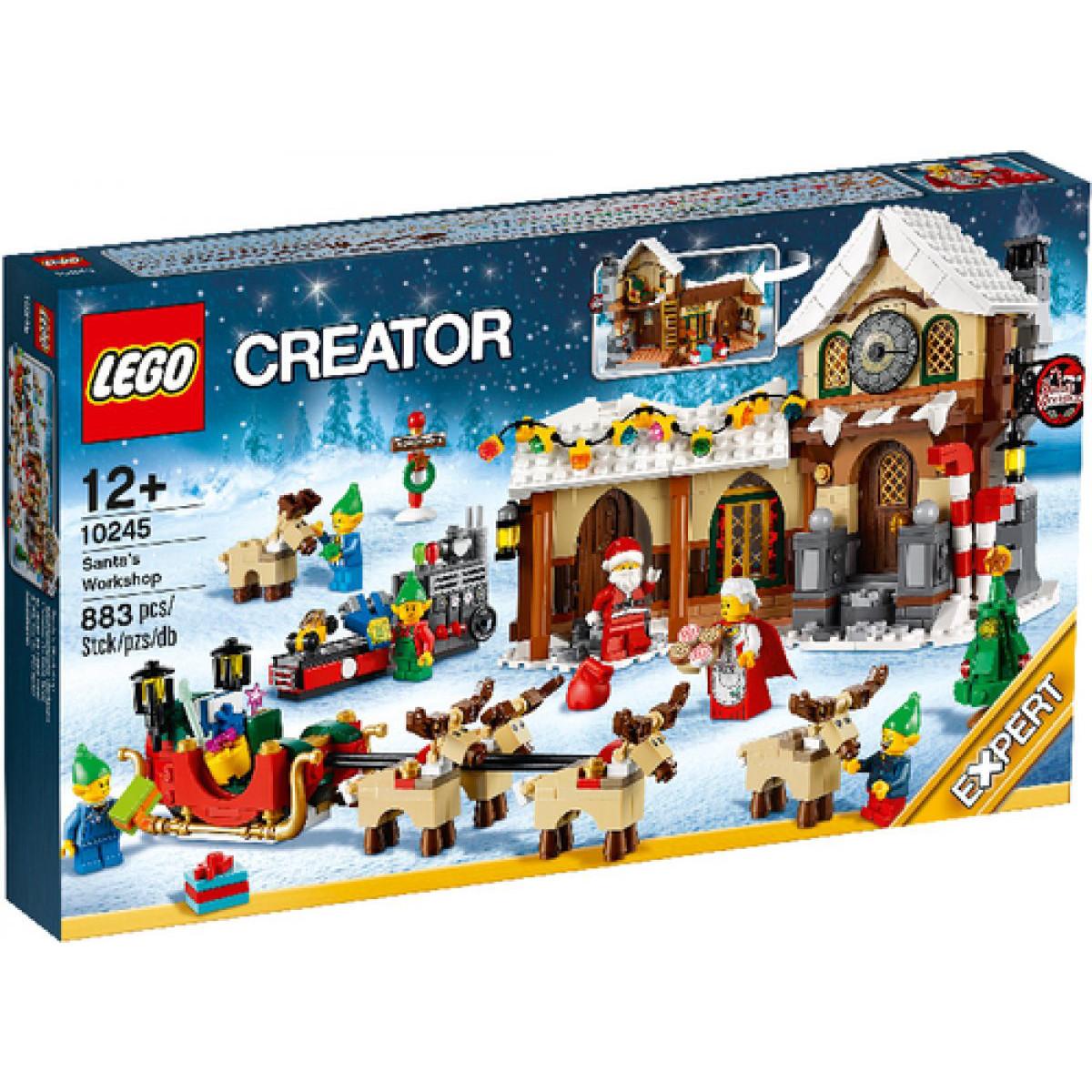 Lego Weihnachtsmarkt.Lego 10245 Creator Weihnachtliche Werkstatt Weihnachtsmarkt Dorf