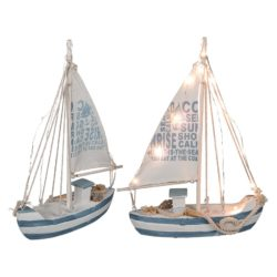 Holz-Segelschiff mit 13 warmweißen LED's out of the blue 830351