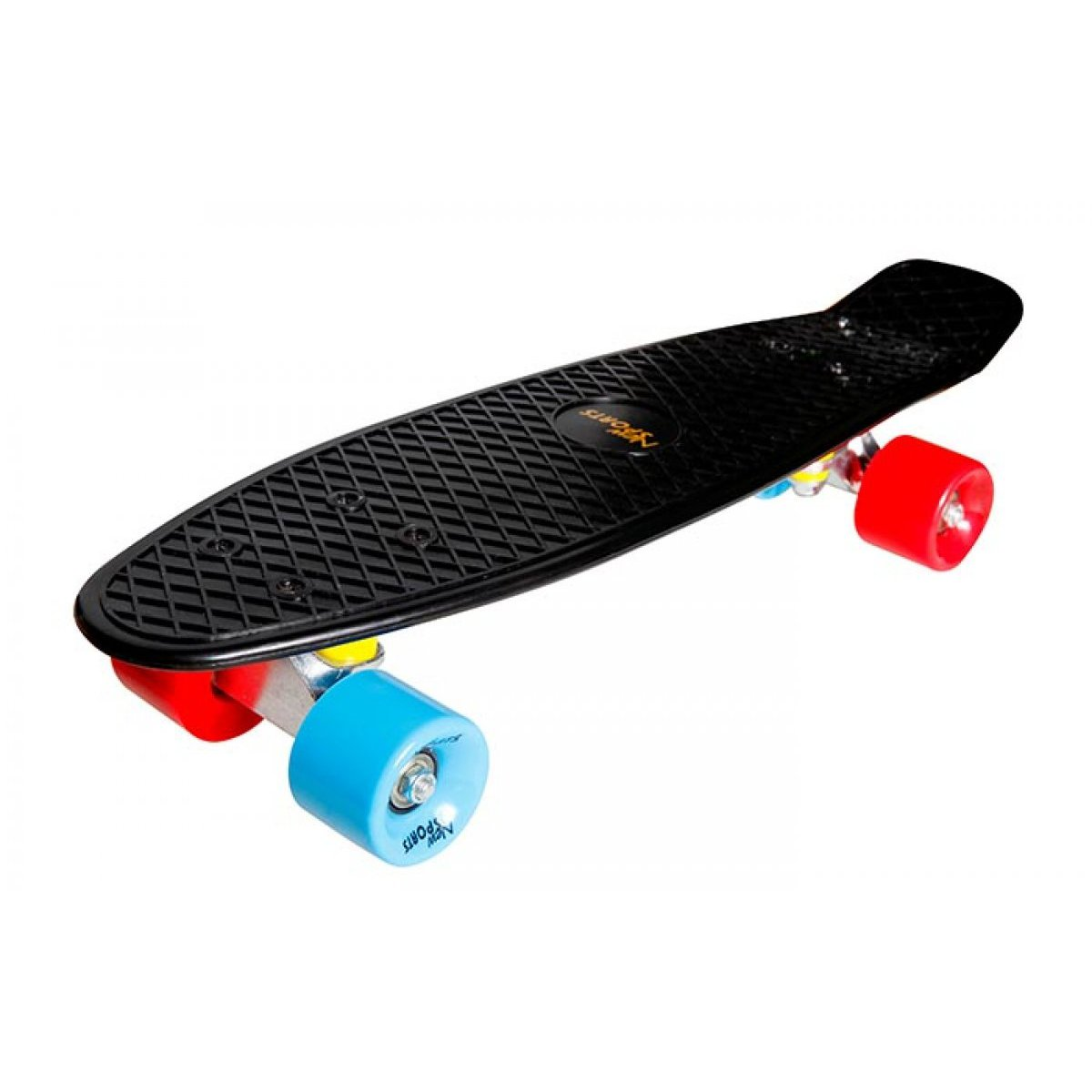 kickboard schwarz orange rot penny board abec7 skateboard. Black Bedroom Furniture Sets. Home Design Ideas