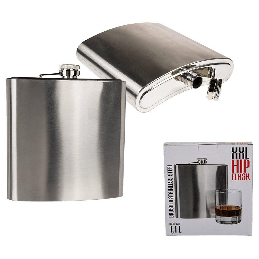 xxl flachmann 1 liter 1 1l edelstahl trinkflasche. Black Bedroom Furniture Sets. Home Design Ideas