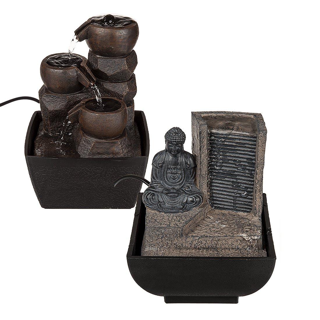 Deko-Brunnen, - Wasserwände & -säulen mit Buddha fürs Wohnzimmer ...