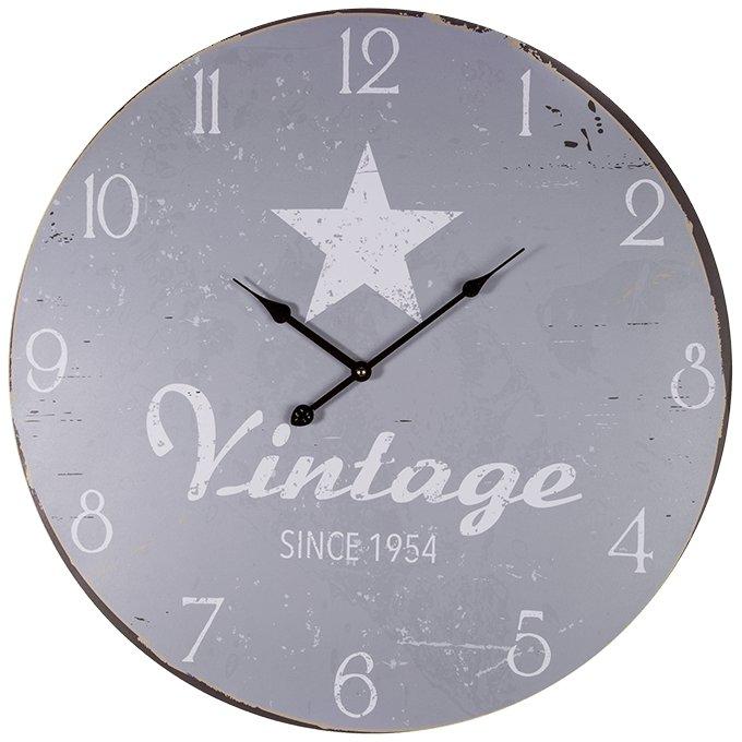 Xxl Wanduhr Holz Vintage Star Since 1954 ø Ca 60cm Timmi
