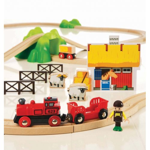 brio holzeisenbahn starter set farm brio 33043 timmi. Black Bedroom Furniture Sets. Home Design Ideas