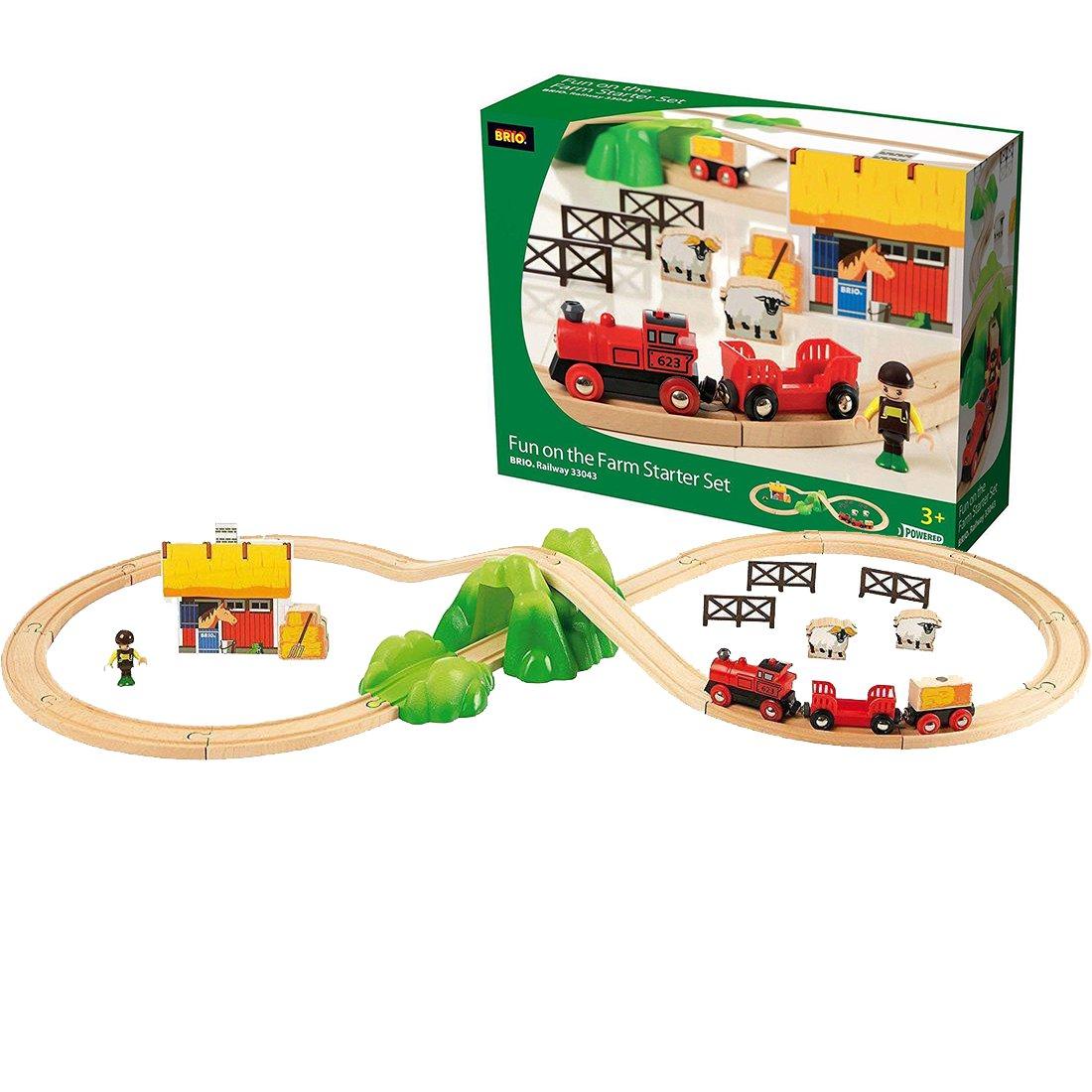 brio holzeisenbahn starter set farm - brio 33043 - timmi spielwaren