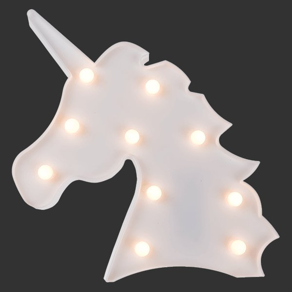 einhornlampe mit warmwei en led 39 s einhorn nachtlicht einhorn deko leuchte neu ebay. Black Bedroom Furniture Sets. Home Design Ideas