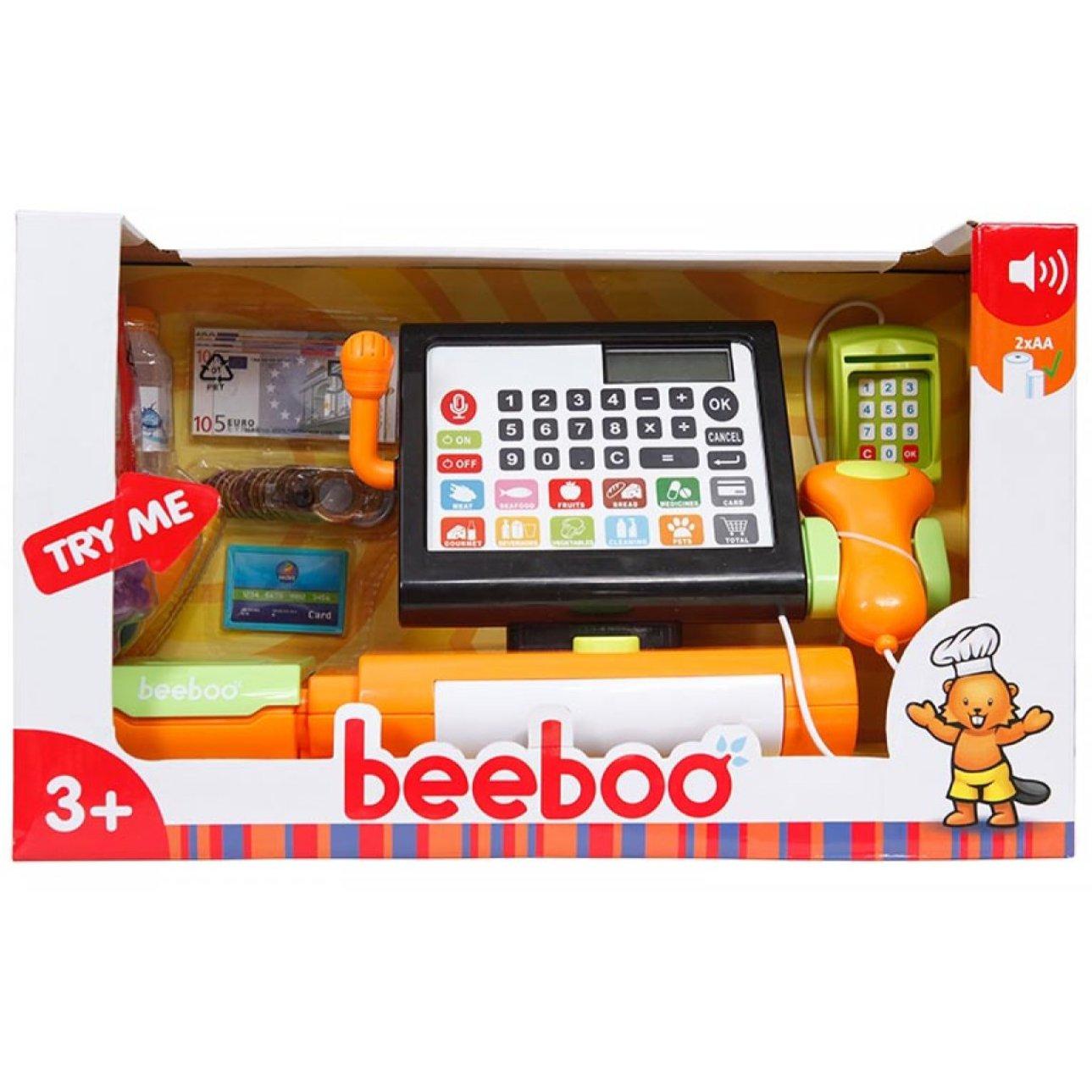beeboo kitchen registrierkasse touchscreen mit viel zubeh r timmi spielwaren onlineshop. Black Bedroom Furniture Sets. Home Design Ideas