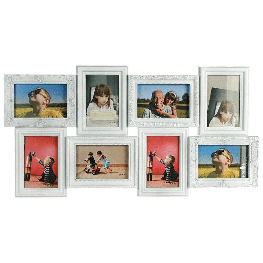 Vintage Bilderrahmen weiß 69x52cm 8 Fotos 10x15cm Fotogalerie ...