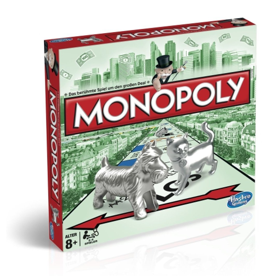 hasbro monopoly classic mit metall figuren timmi. Black Bedroom Furniture Sets. Home Design Ideas