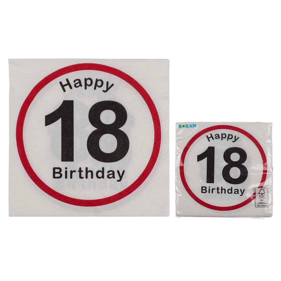 Servietten Zum 18 Geburtstag 145138 Png Timmi Spielwaren Onlineshop
