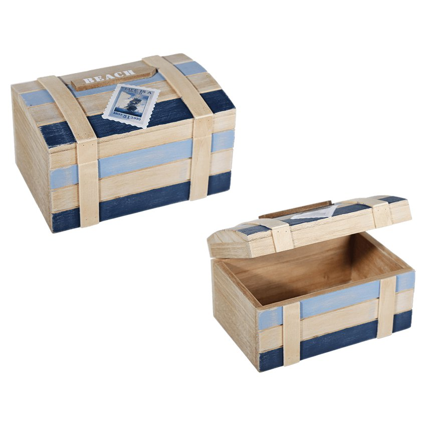 schatztruhe aus holz holz box kiste beach 18x9cm geschenkverpackung maritim meer ebay. Black Bedroom Furniture Sets. Home Design Ideas