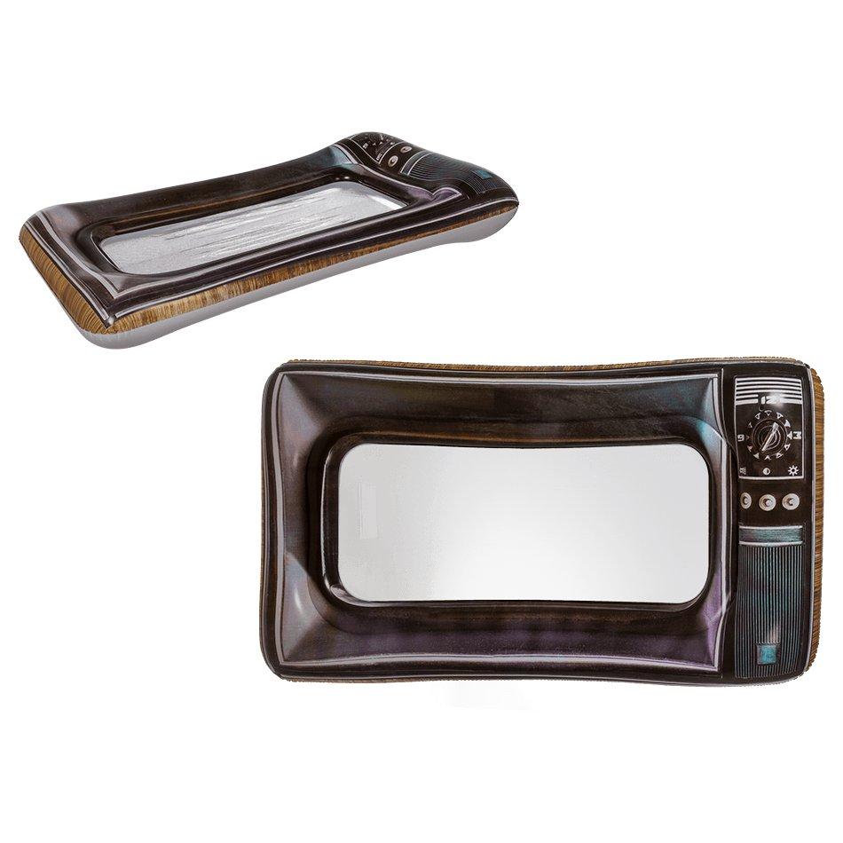Retro Fernseher als Luftmatratze mit Sichtfenster 150 x 80cm Deko ...
